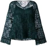 See by Chloe lace layered bell top