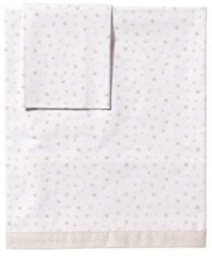 Camilla And Marc PETIT PRAIA Estrellas Set of Sheets for Cot (70 x 140 cm, White/Blue/Beige)