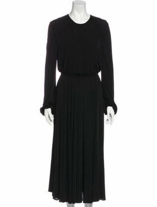 Valentino Crew Neck Long Dress Black