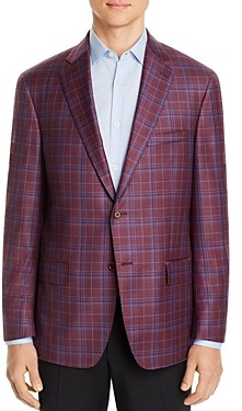 Hart Schaffner Marx New York Plaid Classic Fit Sport Coat