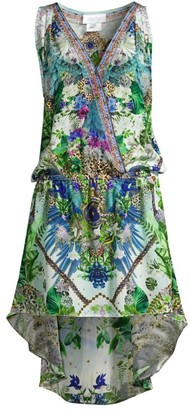 Camilla Moon Garden Crossover Silk Dress
