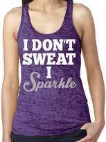 SoRock's Women's I Don't Sweat I Sparkle Burnout Tank