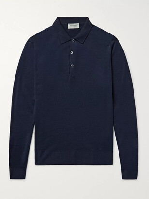 John Smedley Belper Slim-Fit Merino Wool Polo Shirt