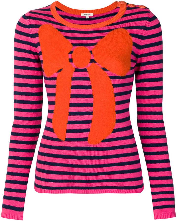 Manoush striped bow jumper