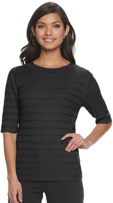 Apt. 9 Women's Elbow Sleeve Ribbed Sweater