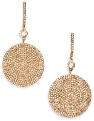 Astley Clarke Icon Pave Light Grey Diamond & 14K Rose Gold Drop Earrings