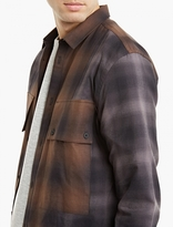 Helmut Lang Brown Plaid Cotton Shirt