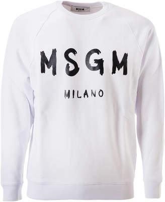 MSGM Logo Print Milano Sweatshirt