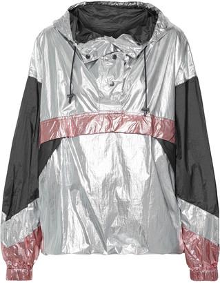 Etoile Isabel Marant Kizzy Color-block Metallic Shell Hooded Jacket