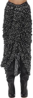 Isabel Marant Calliand Embellished Chiffon Midi Skirt