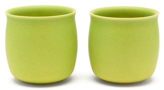 Raawii - Set Of Two Alev Medium Ceramic Cups - Yellow