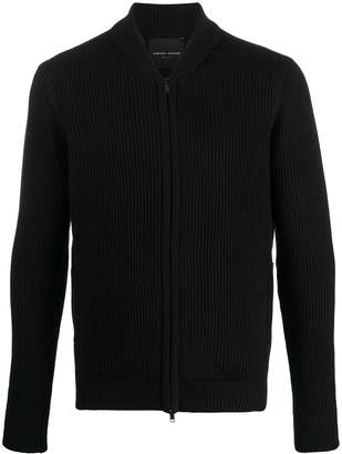 Roberto Collina ribbed-knit zip-up cardigan