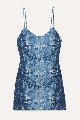 Reformation Seville Tie-dyed Georgette Mini Dress - Blue