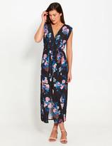 Dotti Floral Tie Front Maxi Dress