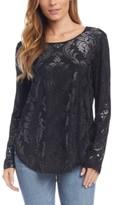 Karen Kane Embossed Shirttail Top