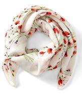 Banana Republic Pleated Floral Square Scarf