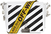 Off-White Stripes Binder Clip Leather Shoulder Bag