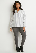 Forever 21 FOREVER 21+ Plus Size Classic Striped Shirt