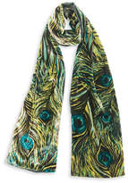 Collection 18 Peacock Velvet Scarf