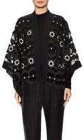 Anna Sui Lace Scalloped Hem Kimono