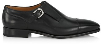 Paul Stuart Giordano Monk-Strap Leather Shoes