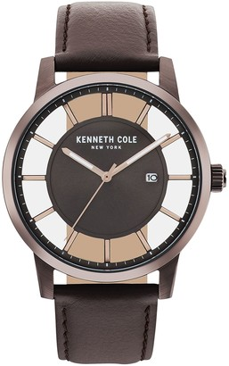 Kenneth Cole NY Men's Brown See-Through Dial Watch