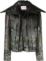 A.F.Vandevorst distressed floral biker jacket