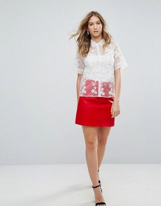 Traffic People PU A Line Skirt