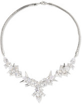 Noir Freeze-Up silver-tone crystal necklace