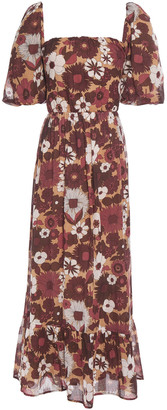 Antik Batik Lorette Cutout Floral-print Cotton Maxi Dress