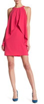 Laundry by Shelli Segal Sleeveless Overlap Ruffle Drape Shift Dress