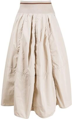 Brunello Cucinelli Puff Pleated Skirt