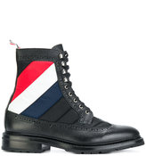 Thom Browne stripe detail boots