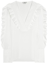 Fendi Ruffled Silk Shirt