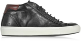 D'Acquasparta D'Acquasparta Mid Urban Black Leather Men's Sneaker