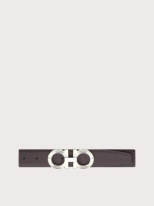 Salvatore Ferragamo Men Reversible and adjustable Gancini belt Brown