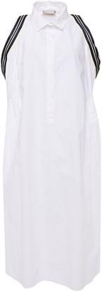 Gentryportofino Grosgrain-trimmed Gathered Cotton-poplin Midi Dress
