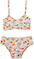 Submarine SUSHI-PATTERN TWO-PIECE SWIMSUIT