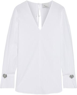 3.1 Phillip Lim Button-embellished Cotton-poplin Blouse