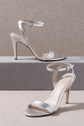 BHLDN Janel Heels By in Silver Size 6