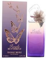 Hanae Mori Purple Butterfly for Women Eau de Parfum Spray, 3.4 Ounce