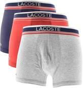 Lacoste Underwear Triple Pack Boxer Trunks Grey