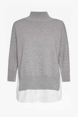 French Connection Mozart Mix High Neck Jumper