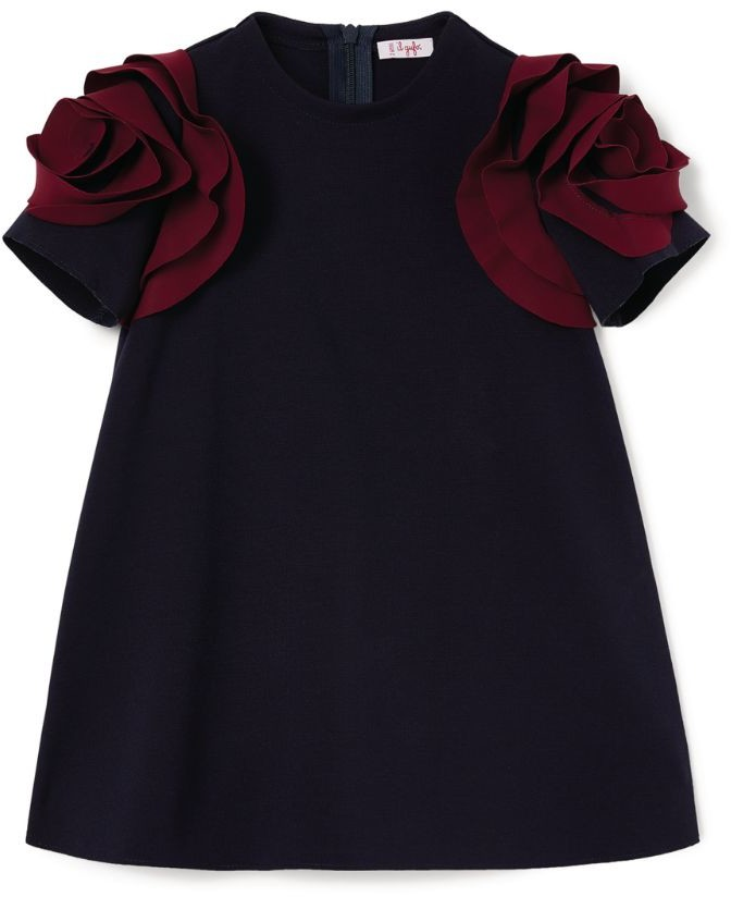 Il Gufo Contrast Sleeve Dress (3-12 Years)
