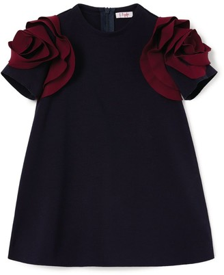 Il Gufo Contrast Sleeve Dress (3-12 Years)