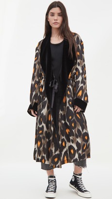 R 13 Robe With Cinched Waist