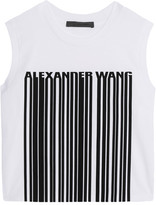 Alexander Wang Cropped Printed Cotton Top - White