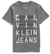 Calvin Klein Taped V-Neck Graphic T-Shirt
