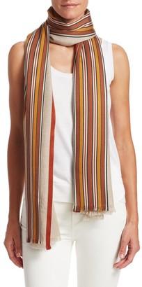 Loro Piana Multi-Stripe Silk & Cashmere Scarf
