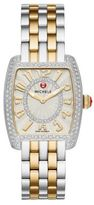 Michele Urban Mini 16 Diamond & Two-Tone Stainless Steel Bracelet Watch